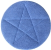 "<!ff>Microfiber Carpet Cleaning Bonnet Pad-8"" Blue - Bulk Case (24 Bonnets/Case)"