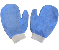 <!aa>Microfiber Hand Mitts-Each BLUE Terry Mitt - Bulk Case (200 Cleaning Mitts/Case)