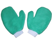 <!bb>Microfiber Hand Mitts-Each GREEN Terry Mitt - Bulk Case (200 Cleaning Mitts/Case)