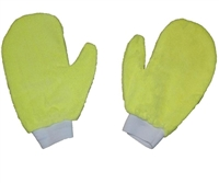 <!cc>Microfiber Hand Mitts-Each YELLOW Terry Mitt - Bulk Case (200 Cleaning Mitts/Case)