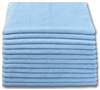 Microfiber Cloth - Terry 12 x 12 300gsm - Blue Bulk Case of 300