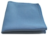 Microfiber Cloth - Mesh Scrubber - 16 x 16 Blue - Bulk Case of 120