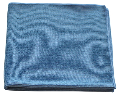 Microfiber Cloth - All Purpose Nip Style - Blue Bulk Case of 204