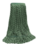 Microfiber Wet Mop - Hybrid - Medium Green 1 1/4 Inch Band - Case of 35