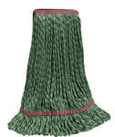 Microfiber Wet Mop - Hybrid - Large Green 1 1/4 Inch Band - Case of 30
