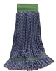Microfiber Wet Mop - Hybrid - Medium Blue 5 Inch Band - Case of 35