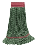 Microfiber Wet Mop - Hybrid - Large Green 5 Inch Band - Case of 30