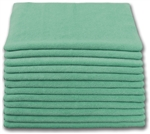 Microfiber Cloth - Terry 16 x 16 200gsm - Green Bulk Case of 300