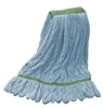 Microfiber Wet Mop - Blue - Medium 1 1/4 Inch Band - Case of 35