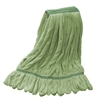Microfiber Wet Mop - Green - Medium 1 1/4 Inch Band - Case of 35