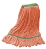 Microfiber Wet Mop - Orange - Medium 1 1/4 Inch Band - Case of 35