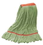 Microfiber Wet Mop - Green - Large 1 1/4 Inch Band - Case of 30