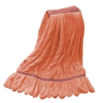 Microfiber Wet Mop - Orange - Large 1 1/4 Inch Band - Case of 30
