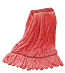 Microfiber Wet Mop - Red - Large 1 1/4 Inch Band - Case of 30