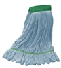 Microfiber Wet Mop - Blue - Medium 5 Inch Band - Case of 35