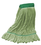 Microfiber Wet Mop - Green - Medium 5 Inch Band - Case of 35
