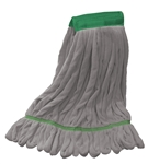 Microfiber Wet Mop | Looped End | Gray Medium Wide Band Bulk