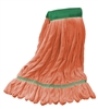 Microfiber Wet Mop - Orange - Medium 5 Inch Band - Case of 35