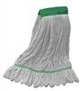 Microfiber Wet Mop - White - Medium 5 Inch Band - Case of 35