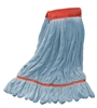 Microfiber Wet Mop - Blue - Large 5 Inch Band - Case of 30