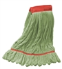 Microfiber Wet Mop - Green - Large 5 Inch Band - Case of 30