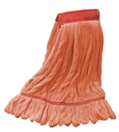 Microfiber Wet Mop - Orange - Large 5 Inch Band - Case of 30
