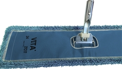 Microfiber Dust Mop - Industrial Closed Loop - Blue 18 Inch