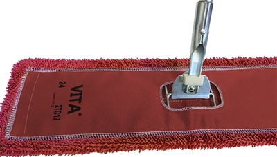 Microfiber Dust Mop - Industrial Closed Loop - Red 36 Inch