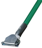 Dust Mop Handle - Green Fiberglass 60 Inch - Clip On Style - Dozen