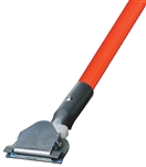 Dust Mop Handle - Orange Fiberglass 60 Inch - Clip On Style - Dozen