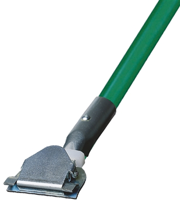 Dust Mop Handle - Green Fiberglass 60 Inch - Clip On Style