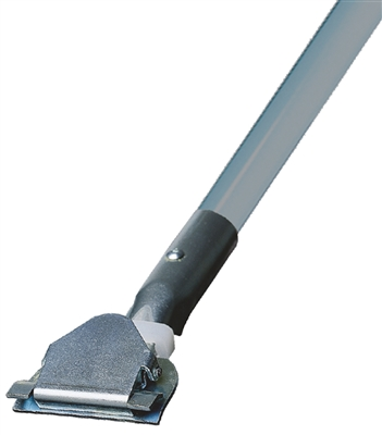 Dust Mop Handle - Gray Fiberglass 60 Inch - Clip On Style