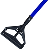 <!d>Wet Mop Handle- BLUE Fiberglass - Plastic Bar Style