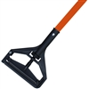 <!g>Wet Mop Handle- ORANGE Fiberglass - Plastic Bar Style
