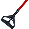 "<!i>EACH---1"" X 60"" PLASTIC BAR STYLE WET MOP HANDLE - <strong>RED</strong> FIBERGLASS HANDLE"