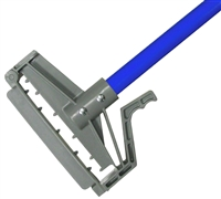 "<!r>DOZEN--- 1"" X 60"" PLASTIC QUICK RELEASE WET MOP HANDLE - <strong>BLUE</strong> FIBERGLASS HANDLE"
