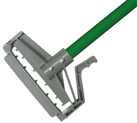 "<!l>DOZEN--- 1"" X 60"" PLASTIC QUICK RELEASE WET MOP HANDLE - <strong>GREEN</strong> FIBERGLASS HANDLE"
