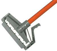 "<!n>DOZEN--- 1"" X 60"" PLASTIC QUICK RELEASE WET MOP HANDLE - <strong>ORANGE</strong> FIBERGLASS HANDLE"