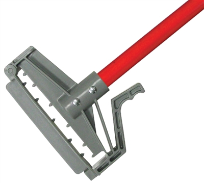 <!ee>Wet Mop Handle- RED Fiberglass - Quick Release - Dozen  (12 Handles/Case)