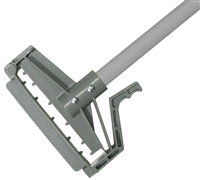 "<!s>EACH---1"" X 60"" PLASTIC QUICK RELEASE WET MOP HANDLE - <strong>GRAY</strong> FIBERGLASS HANDLE"