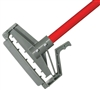 "<!i>EACH---1"" X 60"" PLASTIC QUICK RELEASE WET MOP HANDLE - <strong>RED</strong> FIBERGLASS HANDLE"