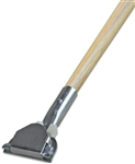 Dust Mop Handle - Wood 60 Inch - Clip On Style - Dozen