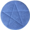 "<!h>Microfiber Carpet Cleaning Bonnet Pad-15"" Blue"
