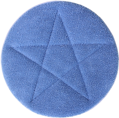 "<!i>Microfiber Carpet Cleaning Bonnet Pad-17"" Blue"