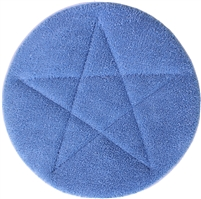 "<!a><b>8"" BLUE</b> Microfiber Loop Pile <b>CARPET BONNET</b>"