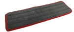 "<!a><strong>EACH </strong>True 18"" Microfiber Finish Pad, Gray with Red Binding"