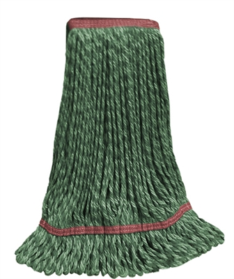 Microfiber Wet Mop - Hybrid - Large Green 1 1/4 Inch Band