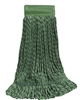 Microfiber Wet Mop - Hybrid - Medium Green 5 Inch Band