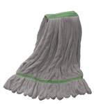 Microfiber Wet Mop | Looped End | Gray Medium Narrow Band