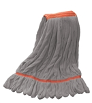Microfiber Wet Mop | Looped End | Gray Large Narrow Band